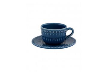 Chávena chá c/pires chá Azul