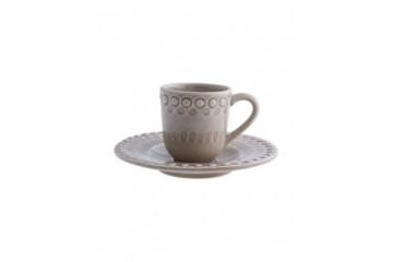 Chávena café c/pires Bege Aveia