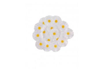 Centro mesa 47 Margaridas branco/amarelo