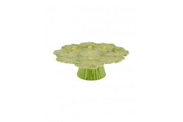 Prato c/ Pé 37 Cosmos verde/amarelo