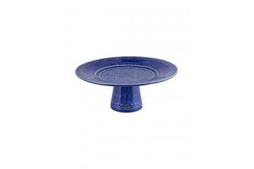 Prato c/ Pé 22 Azul  Indigo