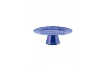 Prato c/ Pé 28 Azul  Indigo