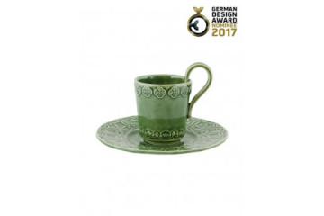 Chávena Café com Pires Verde