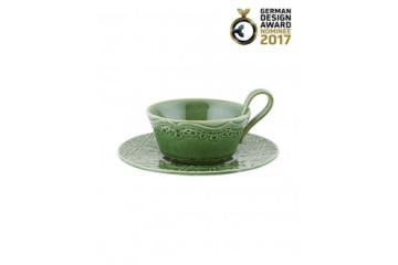 Chávena chá c/pires Verde