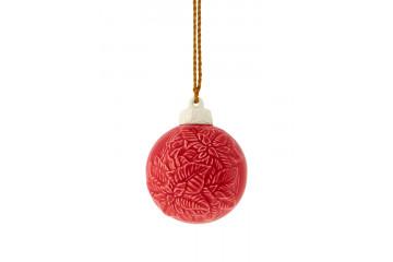 Bolas de Natal - Pendente Flor de Natal