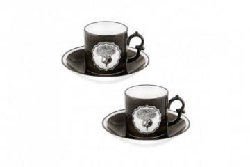 Conj. 2 P Chávena Café Black