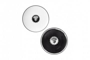 Conj. 2 Pratos Sobremesa White/Black