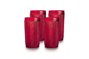 Pack c/ 4 Copos Altos Vermelho