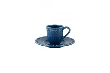 Chávena café c/pires Azul